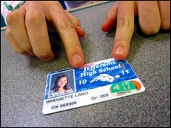 Freeman's PPS student ID, with a YouthPass sticker