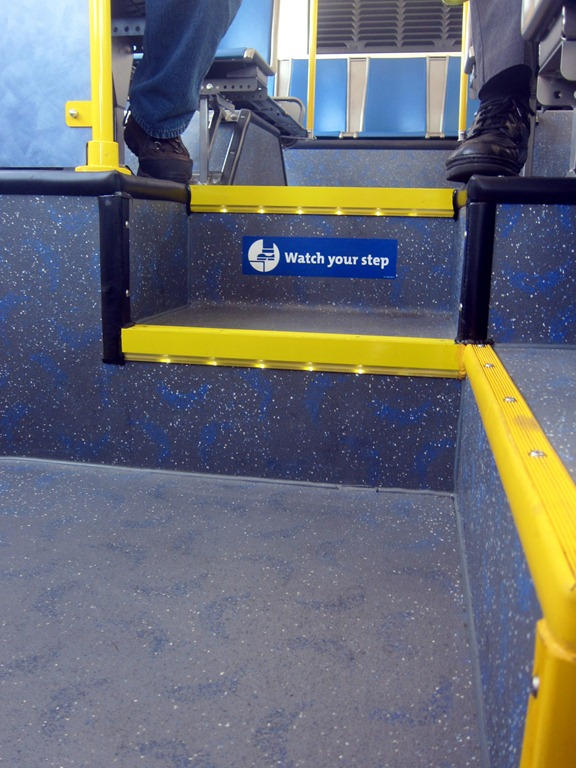 Steps For Buses : Different from the moment you step in trimet s new
