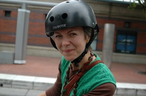 a Portland bicyclist