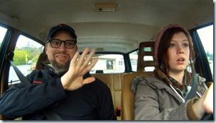 Joseph Rose teaches his daughter Una to drive.