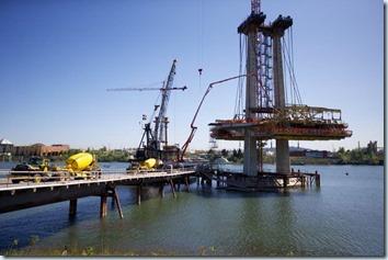 bridge girder in construction