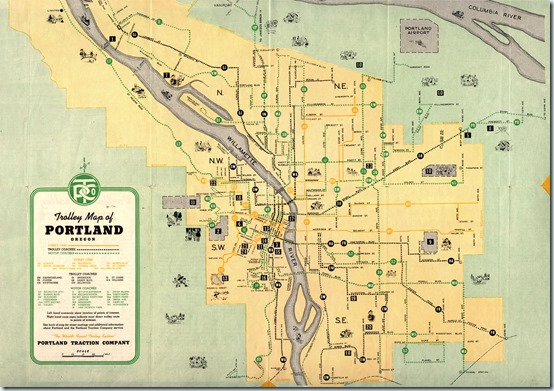 trolley-map-portland-traction-co-1943